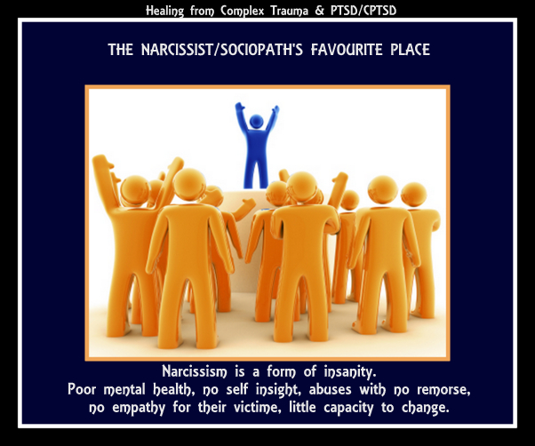 This is their favourite place, particularly the narcissist Church leaders.