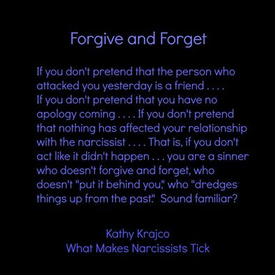 Can a narcissist ever forgive
