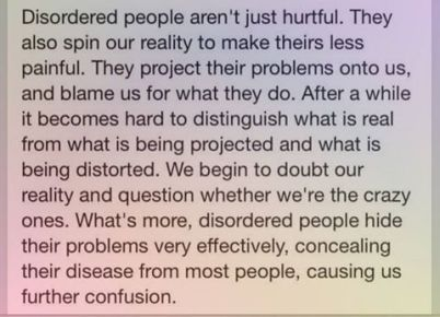 disordered people
