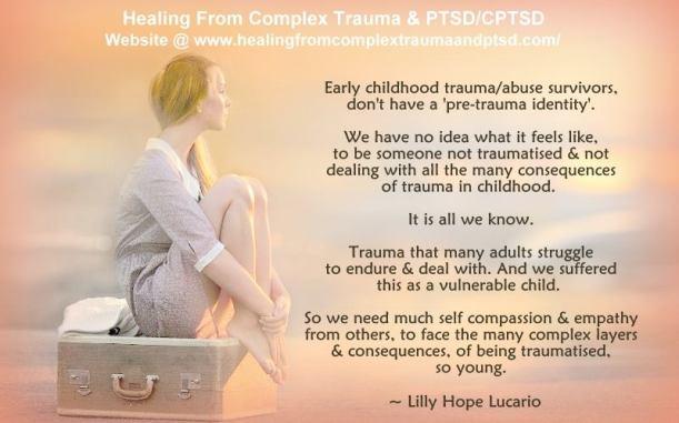 no pre-trauma identity