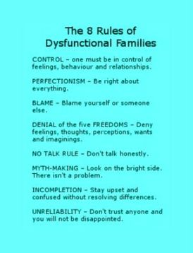 dysfunctional families rules