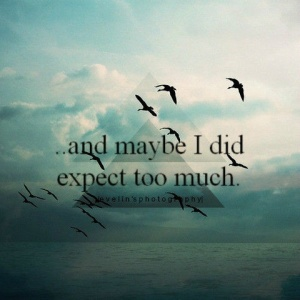 expect too much