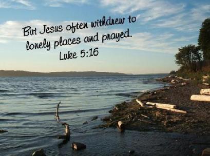 jesus often withdrew
