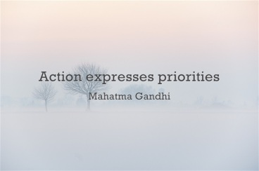 action expresses priority