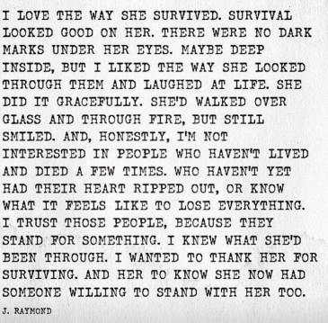 love the way she survived