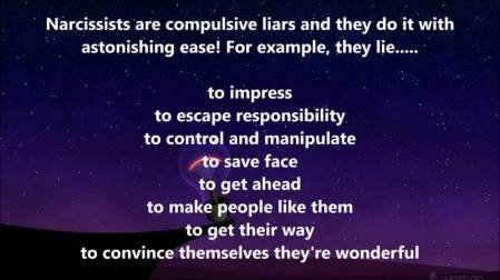 narcissists lies