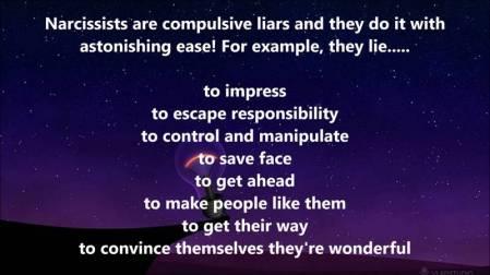 narcissists lies
