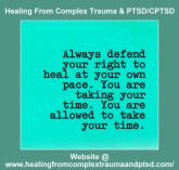 always defend your pace