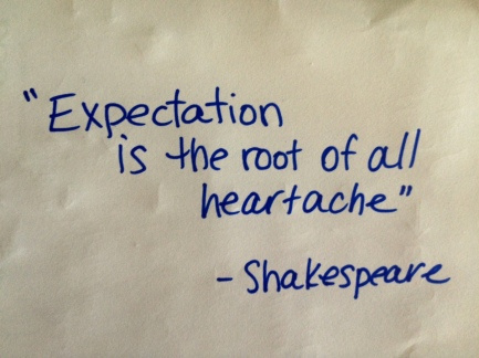 expectations shakespeare