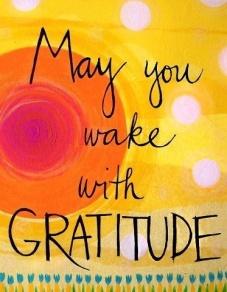 gratitude may you wake