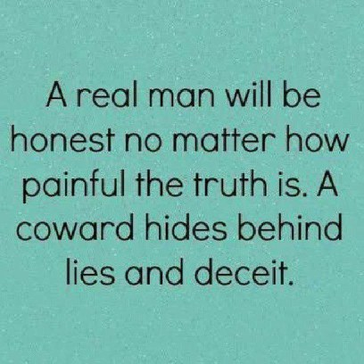 real man is honest
