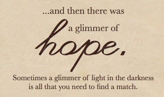 glimmer of hope