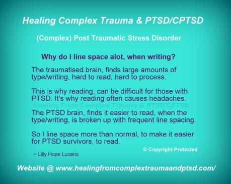 PTSD line spacing