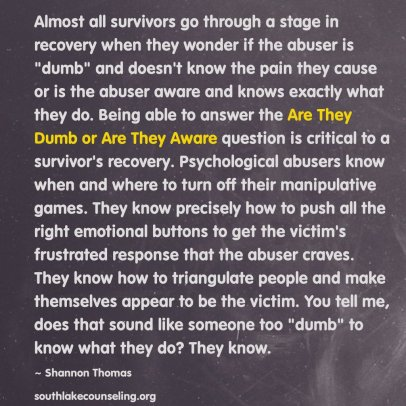 abusers know it's abuse