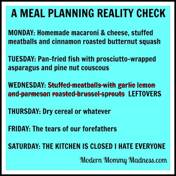 humour meal planning