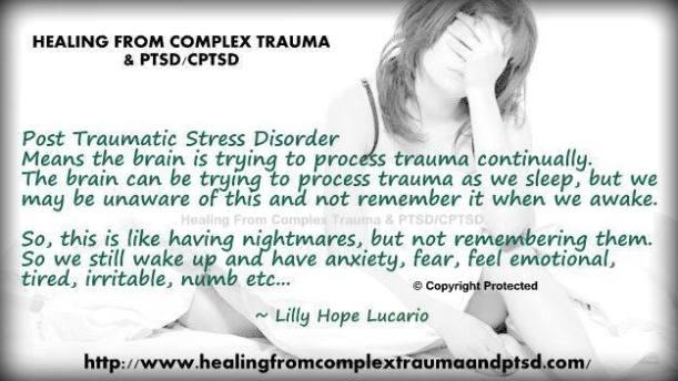 PTSD not remember night time porcessing