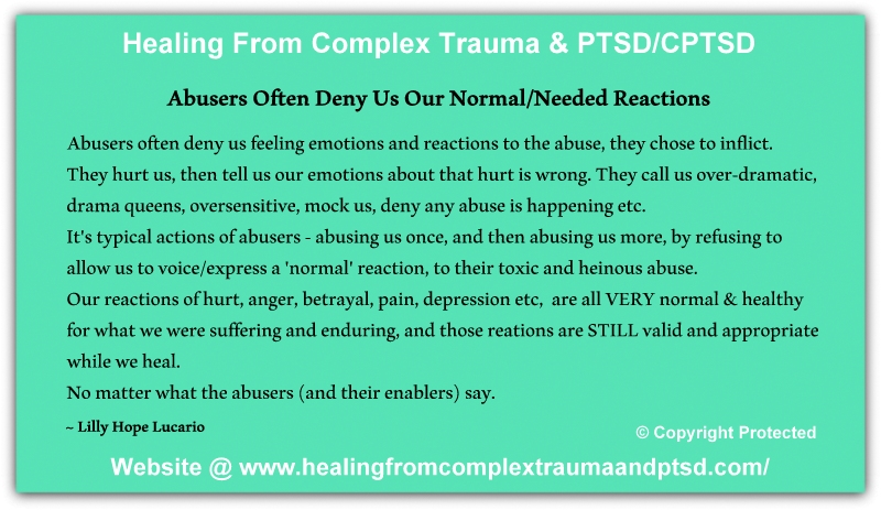 Why do abusers deny abuse