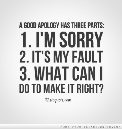 a good apology
