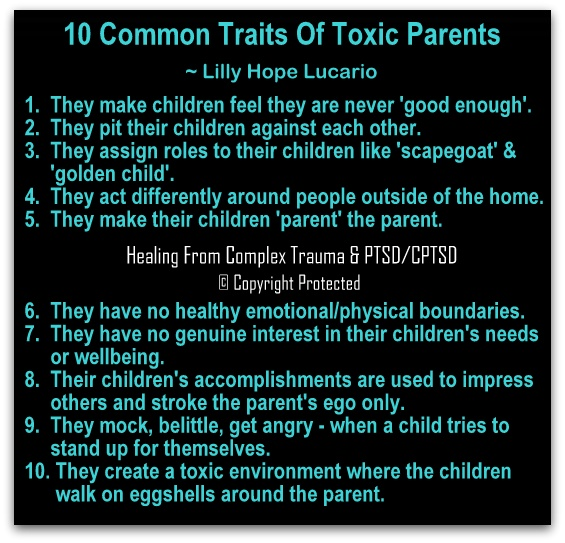 toxic parents | Healing From Complex Trauma & PTSD/CPTSD