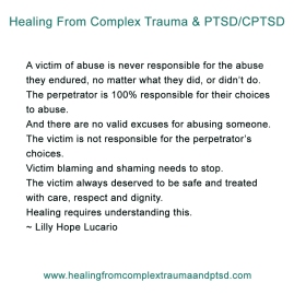victims are not responsible for abuse